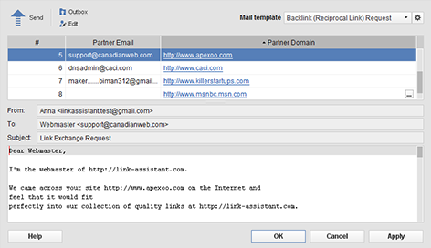 Link Assistant Email Client